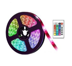 Kit Banda LED RGB cu Telecomanda, 300 LED-uri, Lungime 5m teleMAG